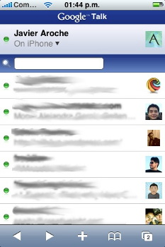 gTalk en Safari del iPhone